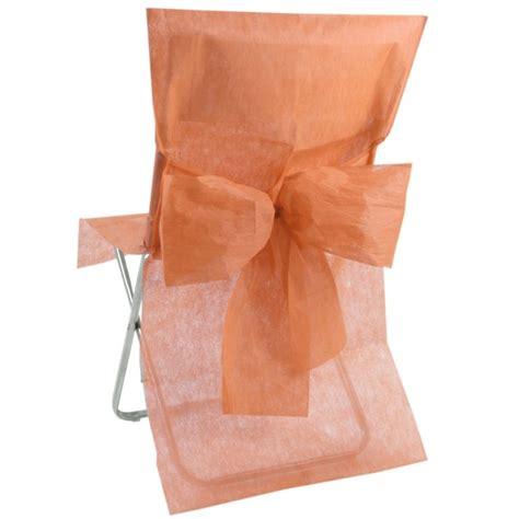 housse de chaise intisse housse de chaise intiss 233 corail avec noeud les 10