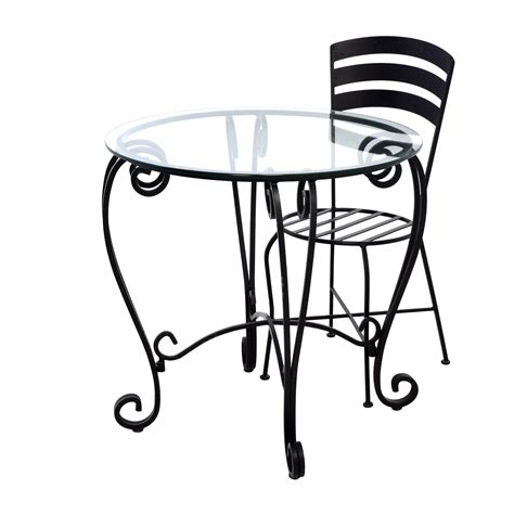 wrought iron end tables with glass tops 71 off wrought iron round glass top breakfast table