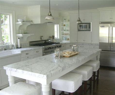 Our Dream Carrara Marble Kitchens  Pumpernickel & Rye