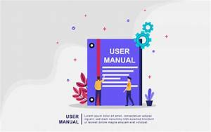User Manual Book Concept With People  Guide  Operating