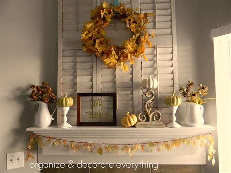 thanksgiving mantel decorating ideas thanksgiving mantel organize and decorate everything