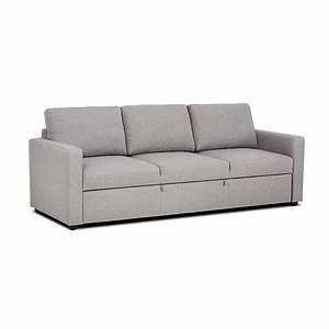 Canapé 3 Places Gris : canap convertible 3 places gris chin tino meuble canapes fauteuils canap s banquettes ~ Teatrodelosmanantiales.com Idées de Décoration