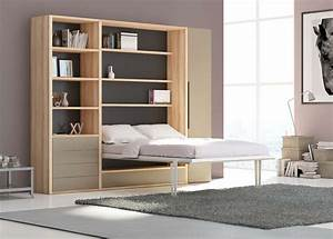 ARMOIRE LIT ESCAMOTABLE WALL BED Espace Topper