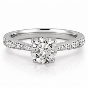Tapered engagement ring delicate tapered engagement ring for Tapered wedding ring