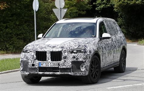 pagani suv bmw x7 spied with production headlights and taillights