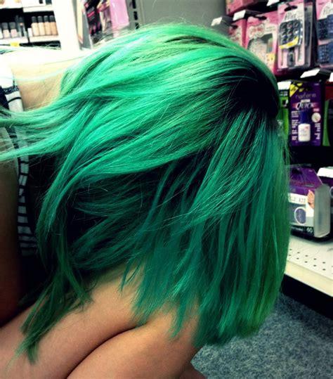 Emerald Green Hair Colourful Hair Inspiration Hair