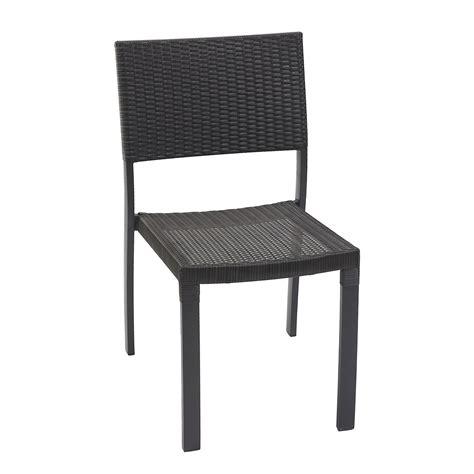 leroy merlin chaise de jardin chaise de jardin en résine tressée gris anthracite leroy