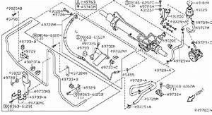 Nissan Pathfinder Hose Suction  Power Steering  Power Steering Reservoir Line Hose