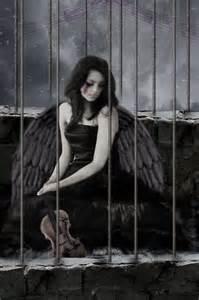 Dark Angel with Broken Wings