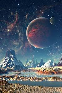 amazing, art, earth, galaxy, magic, moon, nature, night ...