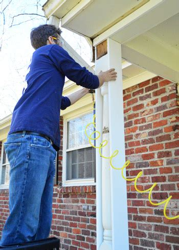 How To Replace Front Porch Columns by Removing Scalloped Porch Trim Fixing The Columns