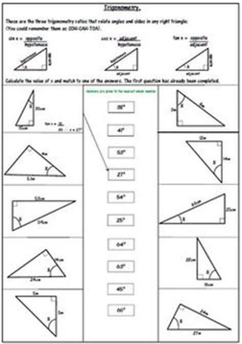 multi step trigonometry worksheets math aids com pinterest trigonometry worksheets and math