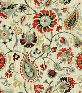 Home Decor Print Fabric- Waverly Siren Song Graphite Jo-Ann