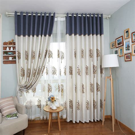 casual jacquard toile curtains for living room
