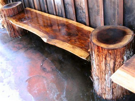 burl table homemade log bench plans homemade stump bench