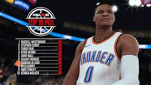 NBA 2K18 Ratings Top 10 Point Guards Sports Gamers Online