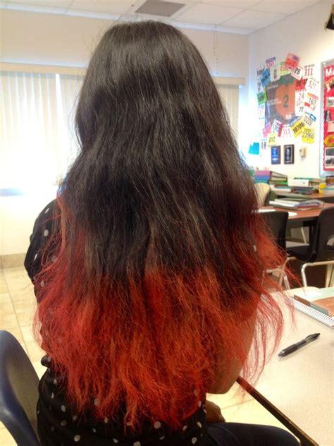 red tips  black hair  mahuberman  deviantart