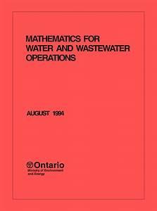 Mathematics For Water And Wastewater Operators  U2013 Owwco