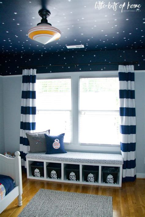 star wars kids bedroom window seat  decorating ideas