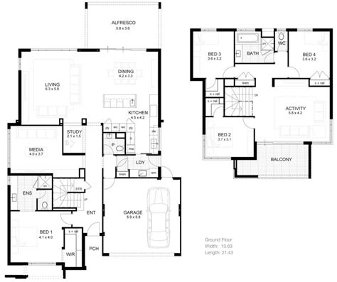 house plans two floor plan two house floor plans ahscgscom simple 2