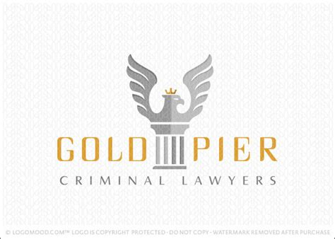 Pier Law by Readymade Logos For Sale Gold Pier Law Firm Readymade