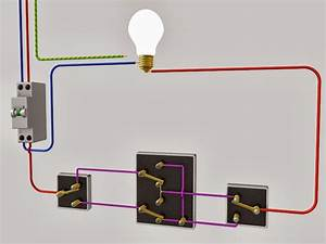 Le raccordement de 3 interrupteurs va et vient schema for Quelle couleur avec le bleu 7 schema electrique le raccordement de 3 interrupteurs va
