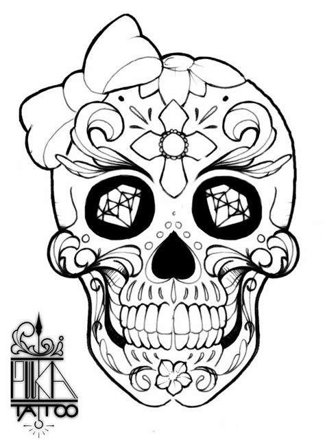 Pin by Wayne Finley on mine | Skull coloring pages, Coloring book art, Color pencil art