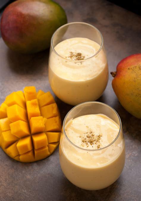 indian mango lassi drink