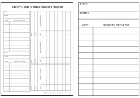 library cards track your kid s reading progress free printable how to nest for less