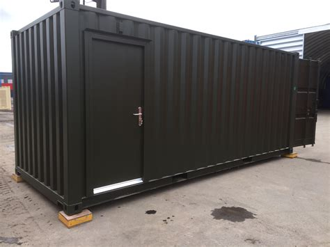 container bureau location 20ft container converted into onsite office