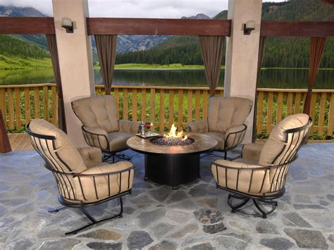 ow monterra wrought iron swivel rocker lounge chair
