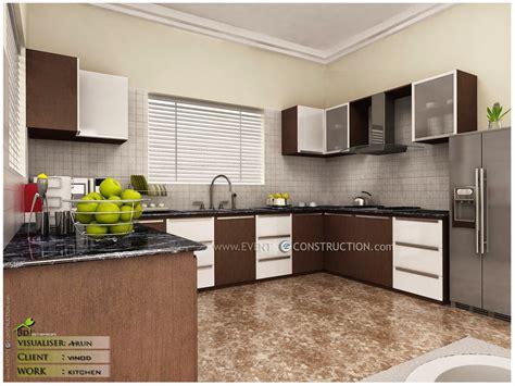evens construction pvt  modern kerala kitchen interior