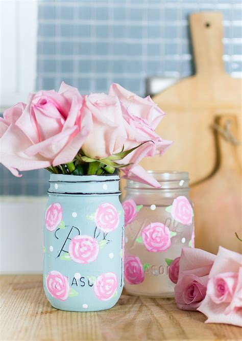 Painted Rose Mason Jars It All Started With Paint