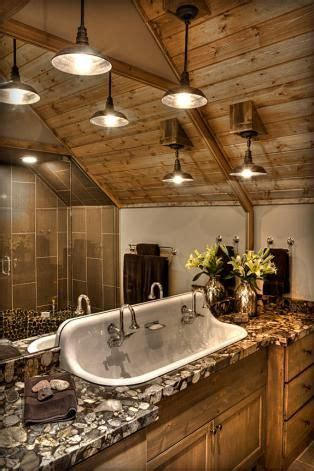 cabin friendly  fashioned large sink   stone