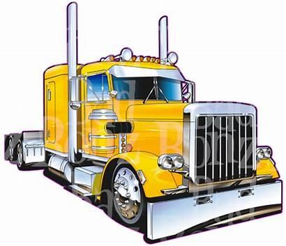 Peterbilt Clipart Rig Truck Semi Sleeper Designs