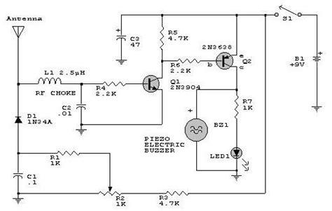 electronica diagramas circuitos circuito detector de rf