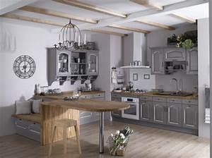Cuisine Ancienne Campagne : une cuisine au look campagne chic conseil d coration ~ Nature-et-papiers.com Idées de Décoration