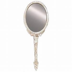 Miroir Baroque Argenté : miroir a main baroque argent pour coiffeuse de charme ~ Teatrodelosmanantiales.com Idées de Décoration