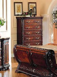 nice traditional bedroom dresser Cannes Sleigh Bed Traditional Luxury Bedroom Furniture Collection|Free Shipping ...