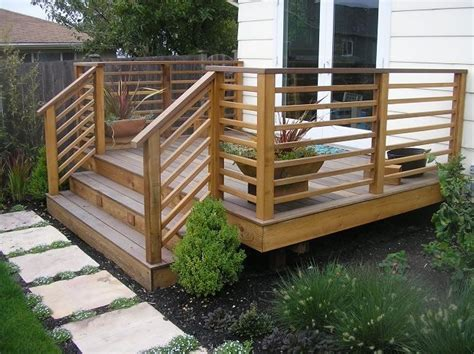 Horizontal Deck Railing Plans by 1000 Ideas About Front Deck On Wheelchair