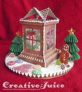 Creative Juice gingerbread house from Tim Holtz luminary