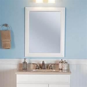 framed wall hanging bathroom mirror 24 in x 30 in bath With hanging bathroom mirrors with frame