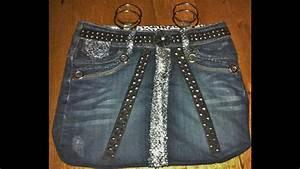Comment Faire Un Sac : faire un sac avec une jupe en jeans partie 2 youtube ~ Melissatoandfro.com Idées de Décoration
