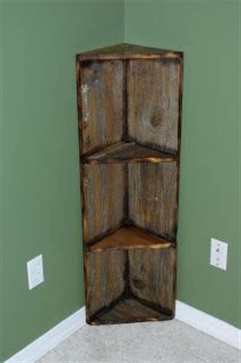 wood corner shelves reclaimed rustics barn wood corner shelf diy build it Diy