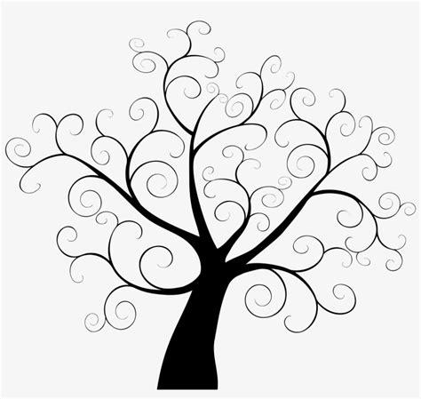 tree fingerprint template guestbook clip art simple