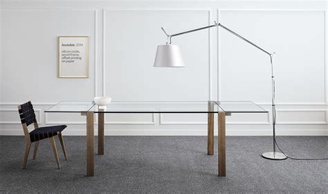 table verre et bois rallonge