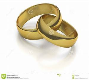 gold wedding rings or bands intertwined stock illustration With intertwined wedding rings