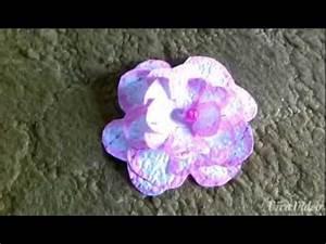 Basteln Mit Tapete : basteln mit papier blume aus tapete youtube ~ Orissabook.com Haus und Dekorationen