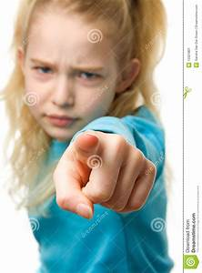 Angry Girl Is Pointing Stock Image - Image: 13321801