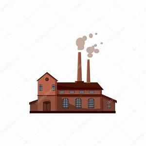 Icono del edificio de la fábrica, estilo de dibujos ...